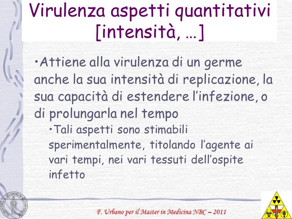 Virulenza aspetti quantitativi [intensità, …]
